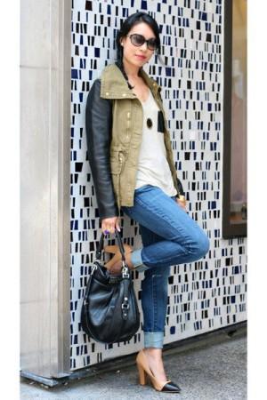 с чем носить джинсовую куртку, с чем носить куртку с кожаными рукавами, платье с принтом, оксфорды, модная осенняя обувь, с чем носить джинсы