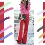 С чем сочетается нежно-розовый и ягодно-красный цвет в одежде