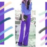 С чем сочетается сине-фиолетовый цвет в одежде