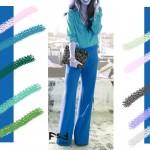 С чем сочетается синий цвет в одежде, бирюзовый цвет