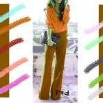 С чем сочетается морковный цвет в одежде, С чем сочетается медно-коричневый цвет в одежде,