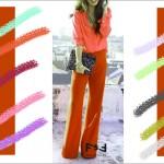 С чем сочетается морковный цвет в одежде, С чем сочетается коралловый цвет в одежде,