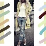 С чем сочетается цвет слоновой кости в одежде, с какими цветами сочетаются джинсы