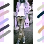 С чем сочетается нежно-лиловый цвет в одежде, с какими цветами сочетаются джинсы