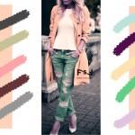 С чем сочетается пастельный лосесевый цвет в одежде, с какими цветами сочетаются джинсы