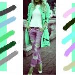 С чем сочетается пастельный аквамариновый цвет в одежде, с какими цветами сочетаются джинсы