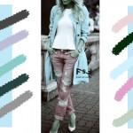 С чем сочетается пастельный голубой цвет в одежде, с какими цветами сочетаются джинсы