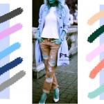 С чем сочетается небесно-голубой цвет в одежде, с какими цветами сочетаются джинсы