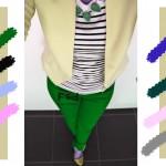 С чем сочетается зеленый цвет в одежде, С чем сочетается серо-желтый цвет в одежде