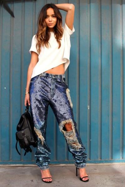 Стильные решения для джинсов