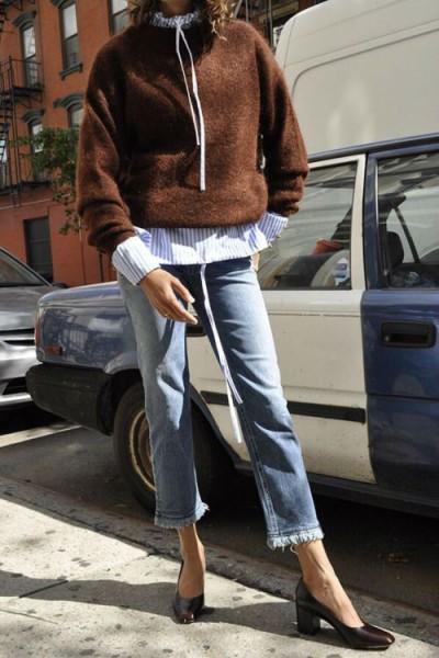 Интересные комплекты с джинсами