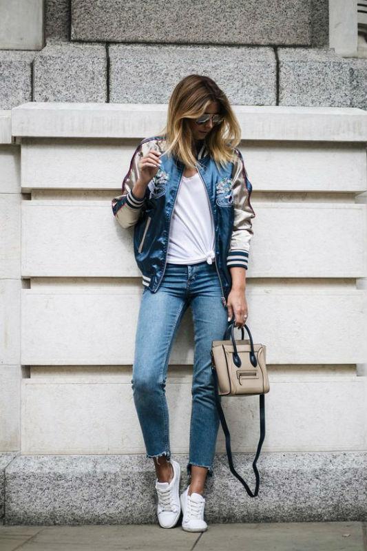 Стильный женский образ с джинсами