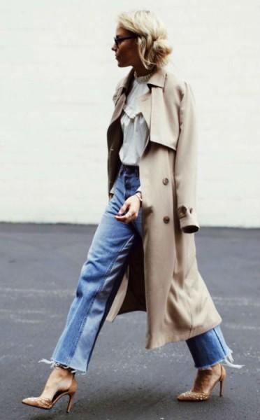 Обувь на шпильке с джинсами