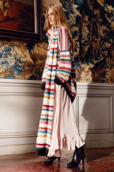 Длинный женский шарф