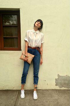 Комплект блузы с джинсами