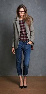 Комплект с джинсами для девушки