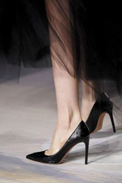 Классические туфли лодочки на шпильке