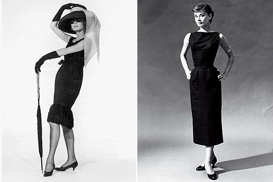 черное платье в стиле Одри Хепберн