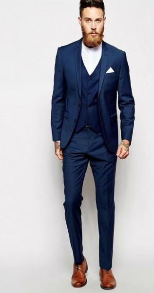 костюм мужской классический синий