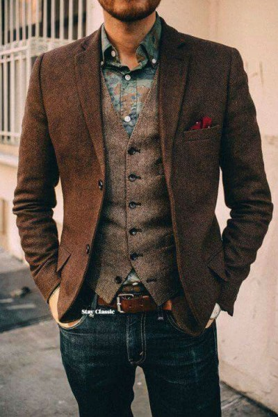 с чем носить мужской жилет классический