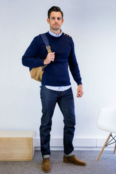 что одеть с джинсами мужчине