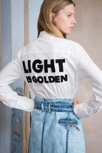 брендовая одежда с надписью