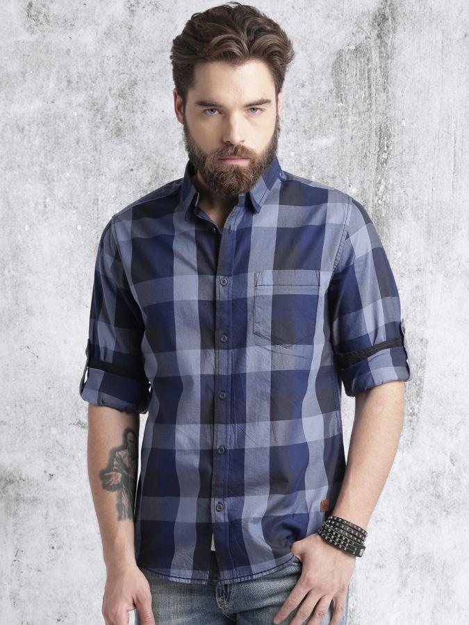 стильные мужские рубашки +в клетку