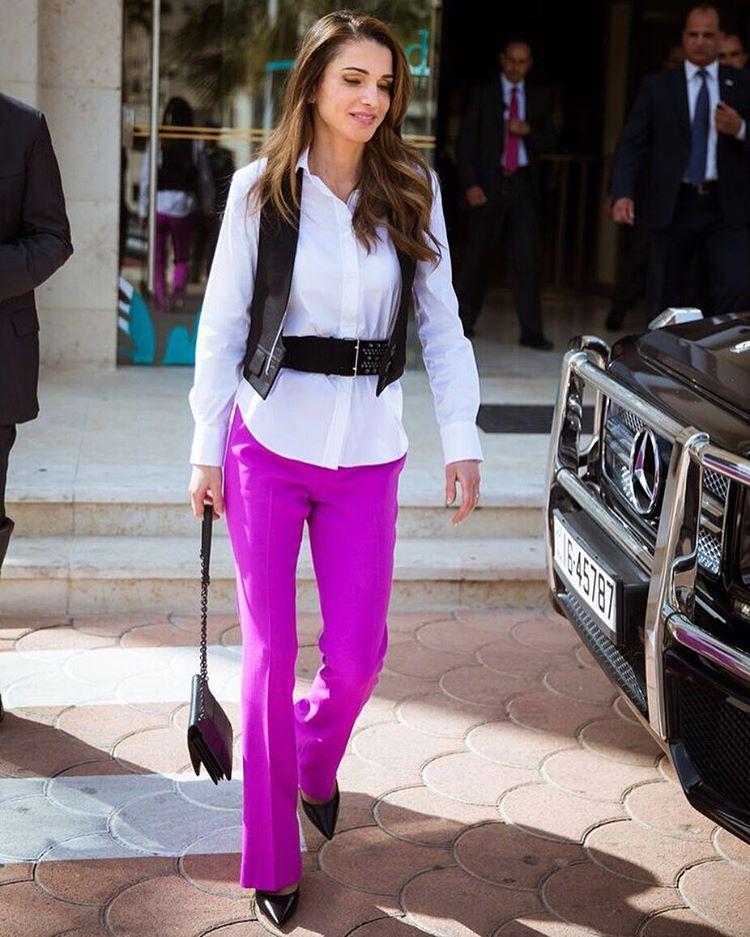 королева иордании рания стиль одежды