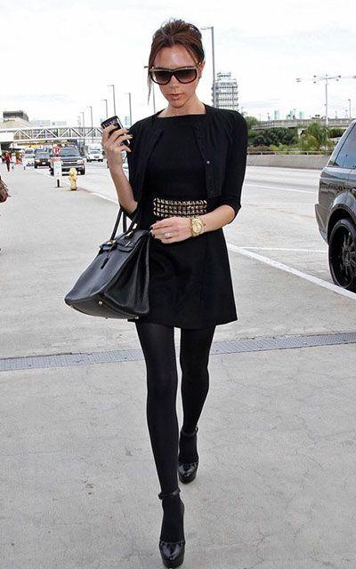 носят ли черное платье с черными колготками