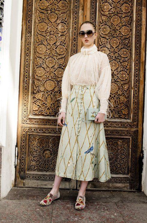 юбка с рисунком как носить