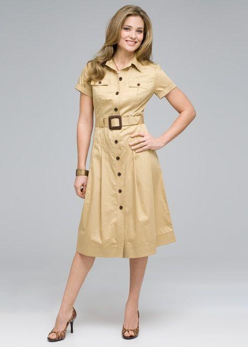платье +в стиле сафари фото
