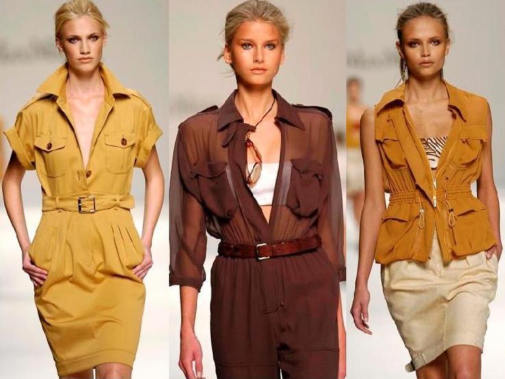 стиль одежды сафари +для женщин
