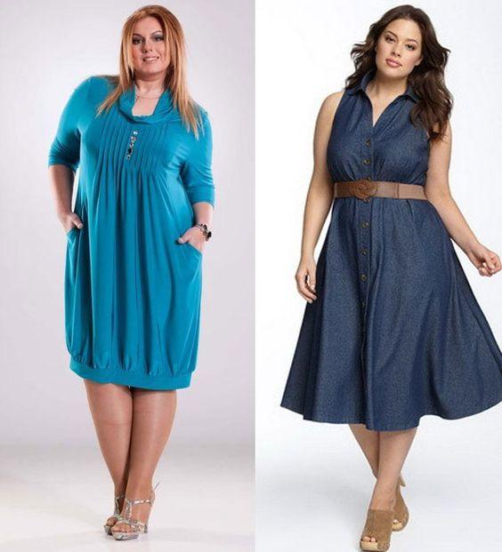 красивые стильные платья для полных