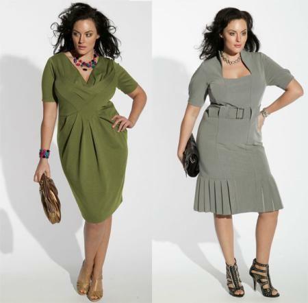 платья для полных женщин возраст 50 лет