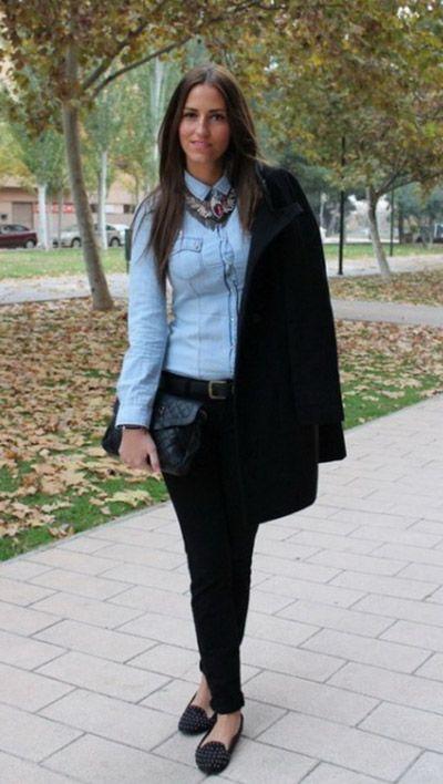 образ женская рубашка с брюками