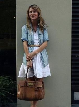 с чем носить длинную джинсовую рубашку женскую