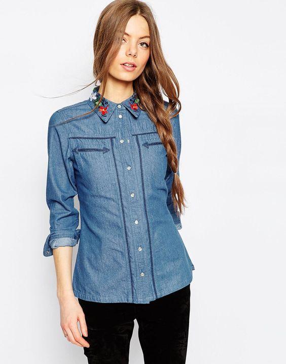как сделать джинсовую рубашку модной