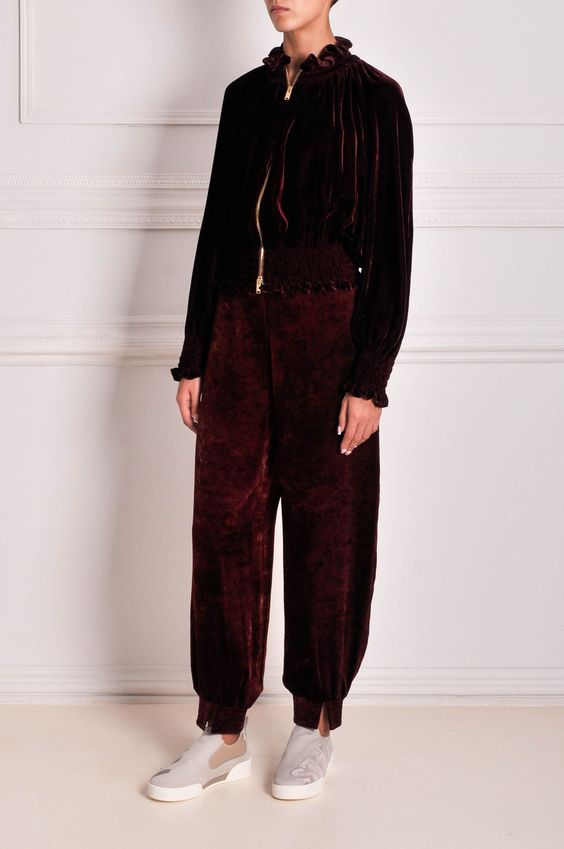 брюки женские бархат