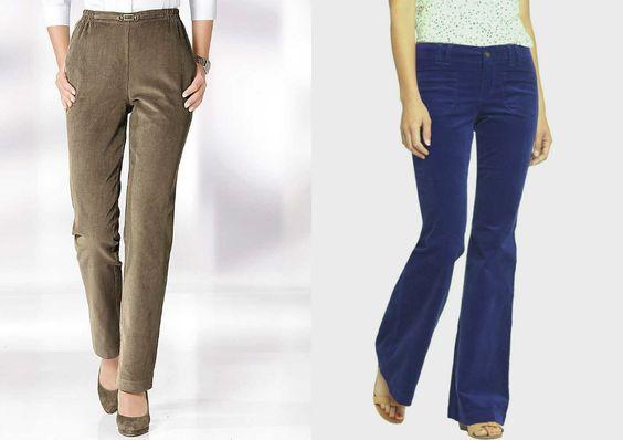 брюки из вельвета женские