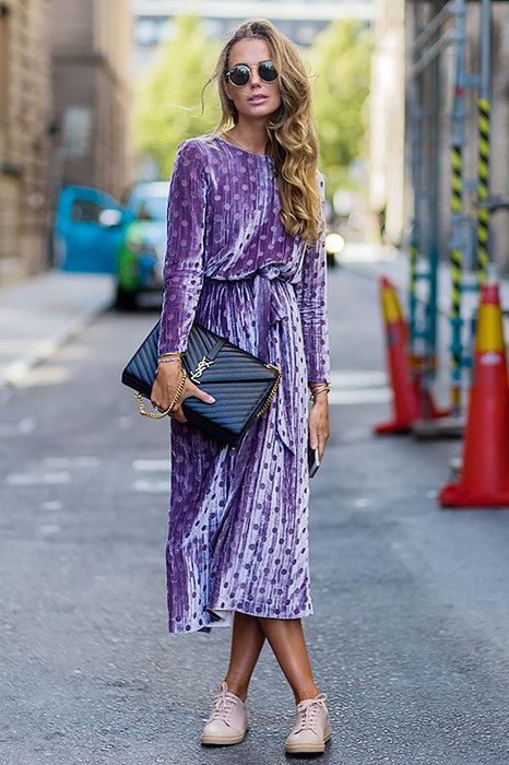 бархатное платье с принтом