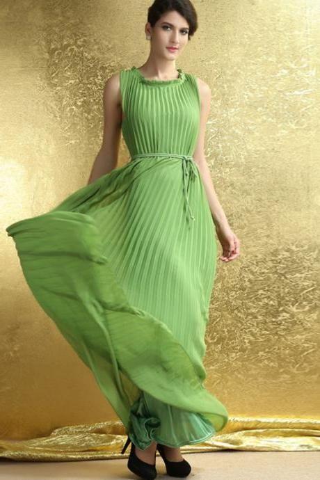 платья плиссе в пол