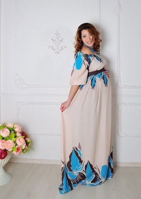 струящееся платье в пол