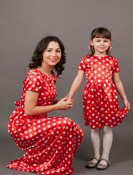family look мама +и дочка платья