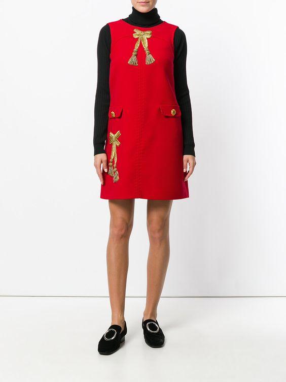красный сарафан с вышивкой