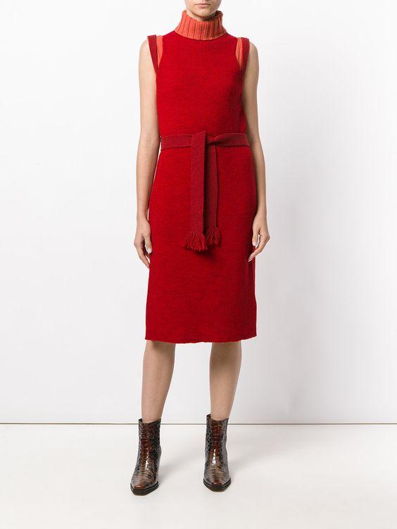 красные платья без рукава