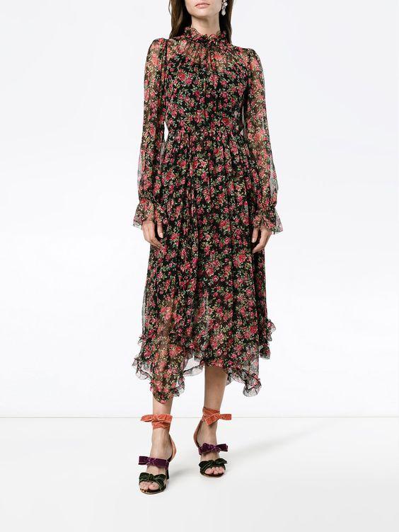 платья с цветочным принтом с чем носить