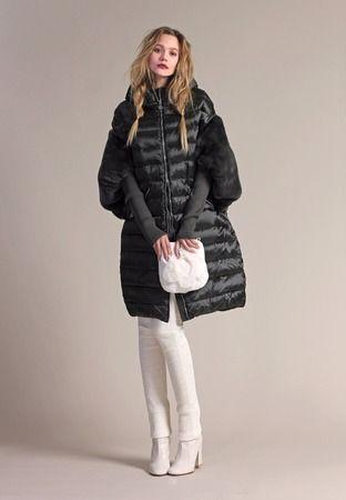 как стильно носить пуховик зимой