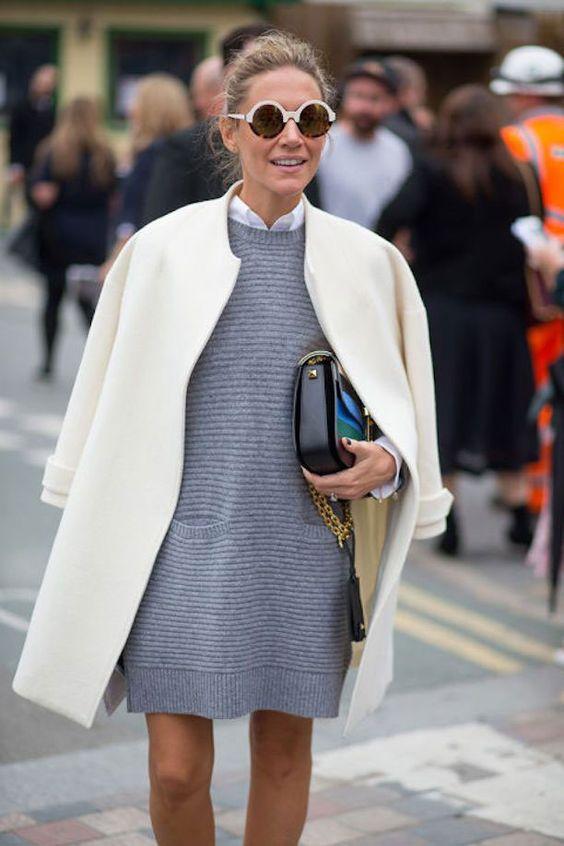комплект с платьем-свитером