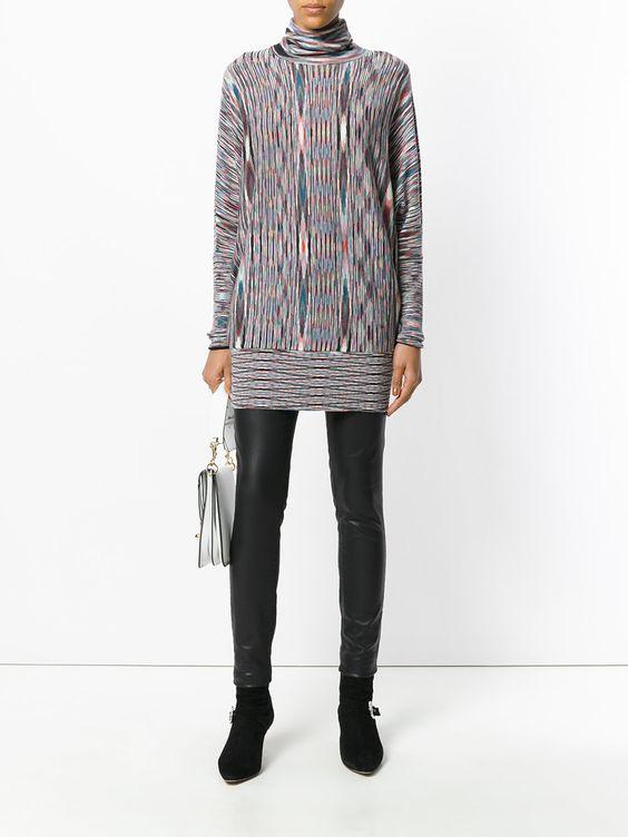 с чем носить длинное платье-свитер