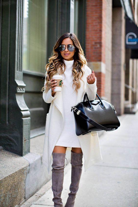 стильное платье-свитер